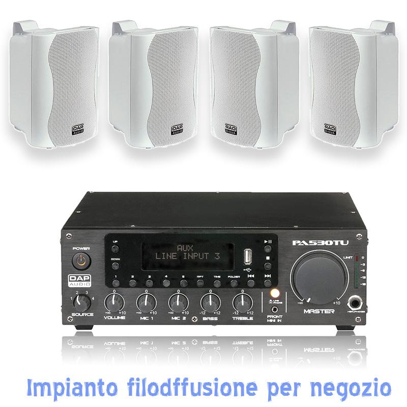 sistema diffusione audio per piccoli ambienti