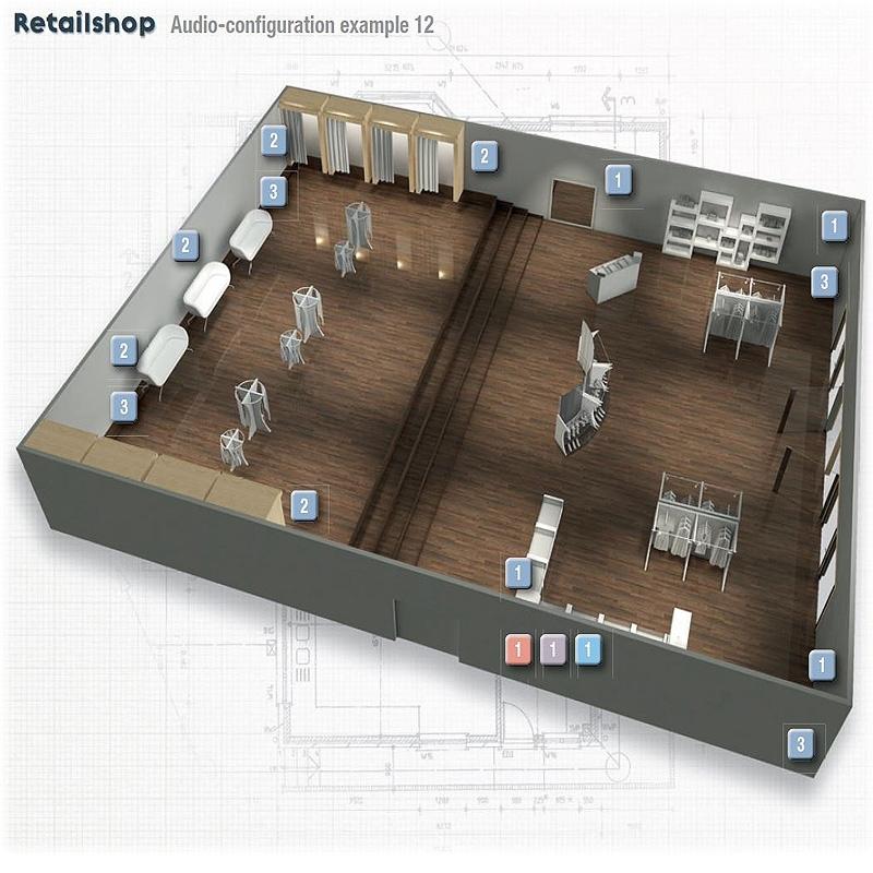 Progetto impianto amplificazione per negozi