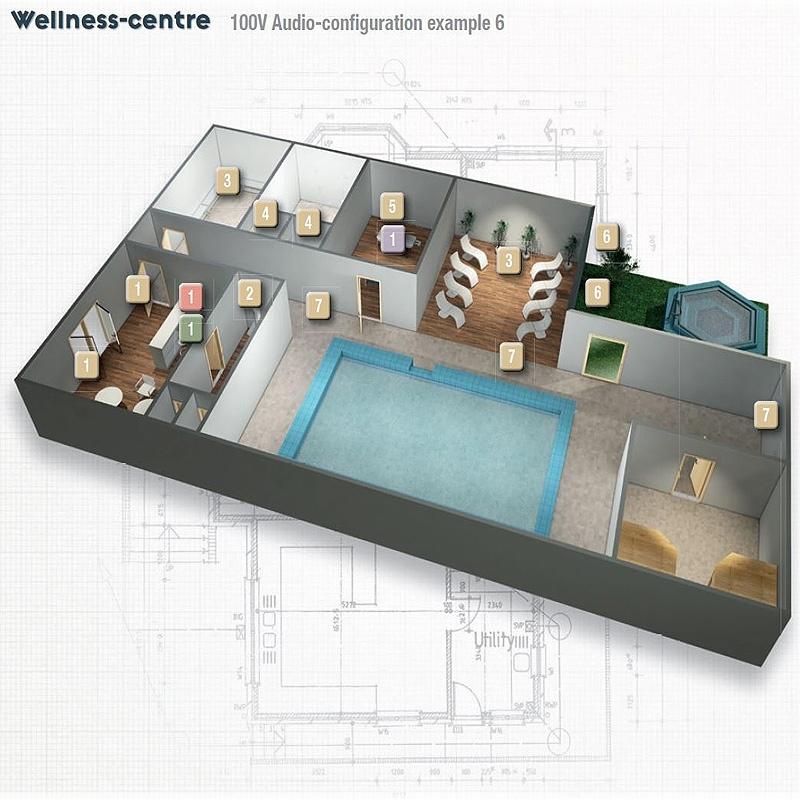 progetto impianto wellness