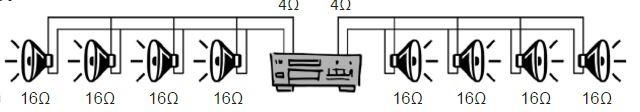 impianto audio ad incasso in impedenza