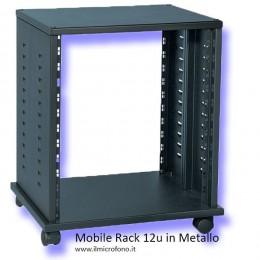 mobile rack in metallo da 12 unità