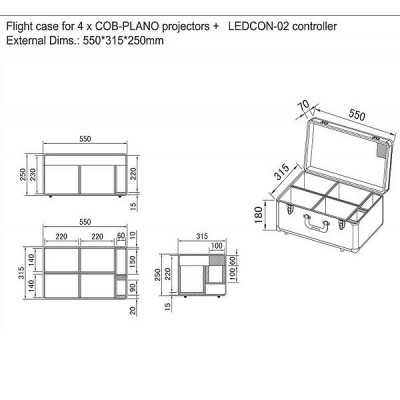 Fly case per luci led