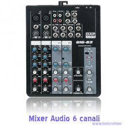 piccolo mixer per microfoni