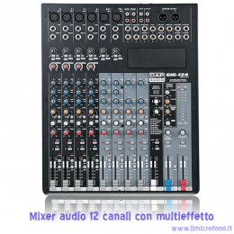 mixer 12 canali con effetti e bluetooth