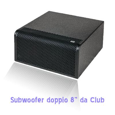 piccolo subwoofer per bassi da installazione in disco club o dehor