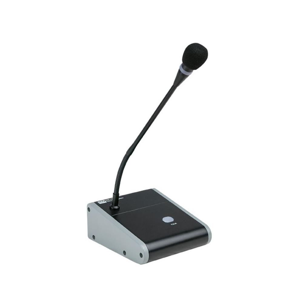 Microfono con base da tavolo per annunci con interruttore