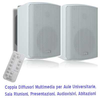 diffusori multimediali per audiovisivi in sale e aule