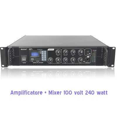 amplificatore 100 v per filodiffusione negozi bar appartamento