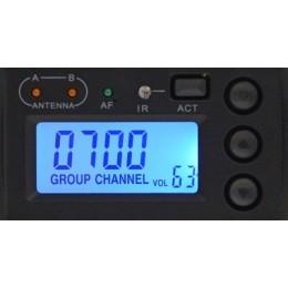 Kit radiomicrofoni multipli con un solo ricevitore 4 canali:TXS-646
