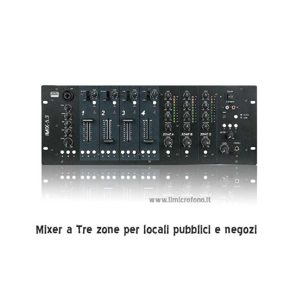 come controllare il volume con un mixer a tre zone indipendeti
