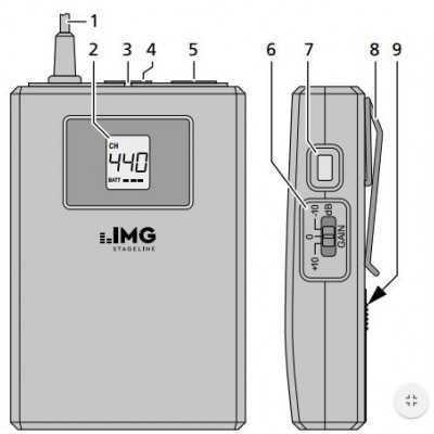 radiomicrofono bodypack