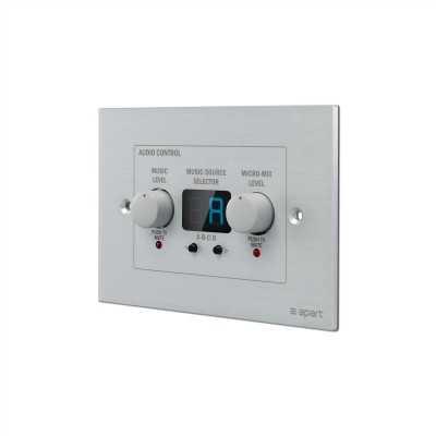 pannello controllo audio a muro
