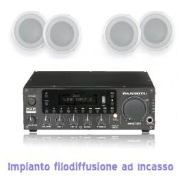 Impianto Filodiffusione Incasso 4-30