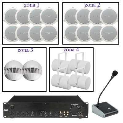 impianto audio a zone