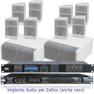 Impianto Audio per Estivo
