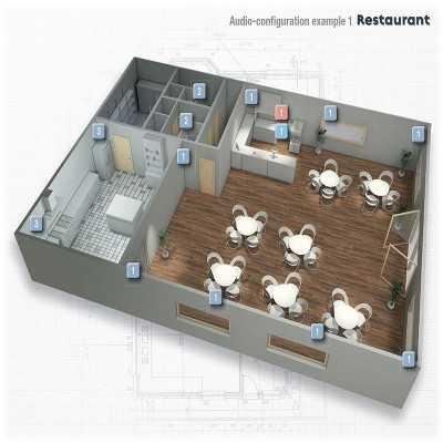 Progettazione impianti audio ristorante