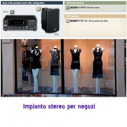 impianto stereo negozio