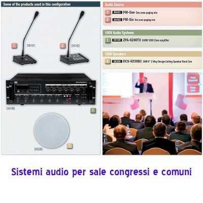 impianto audio per sala congressi conferenze