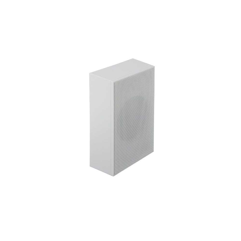 Altoparlante bianco con installazione a parete