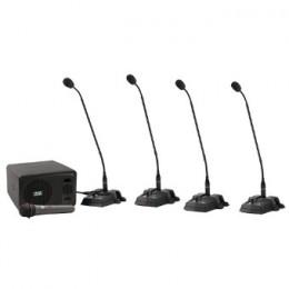 Base per delegato e microfono a collo di cigno per conferenza
