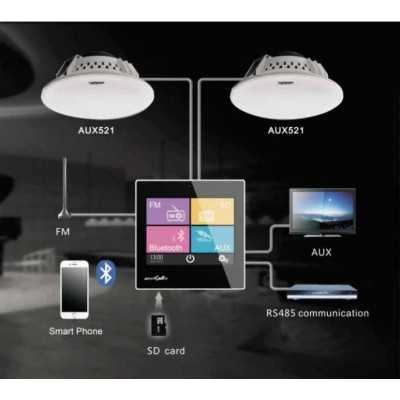 amplificatore incasso touch screen