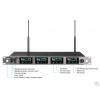 ACT-74 Ricevitore quattro radiomicrofoni Alta Gamma ACT-UHF - 400 canali preset - Wideband 72 MHz
