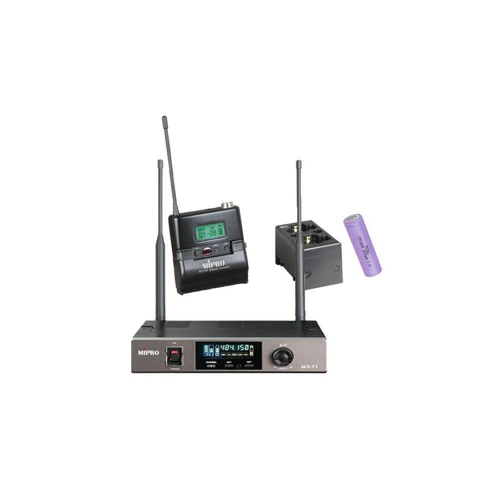 Radiomicrofono Mipro Serie 7 Bodypack Batteria Litio