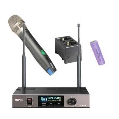 Radiomicrofono Mipro Serie 7 Palmare Batteria Litio