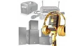 Noleggio casse ,radiomicrofoni,diffusori ,impianti amplificazione.