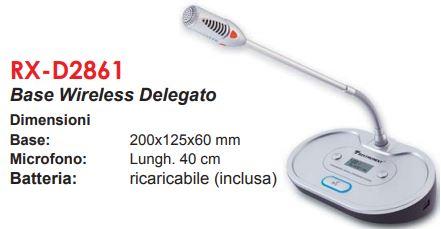 base microfono da tavolo senza fili