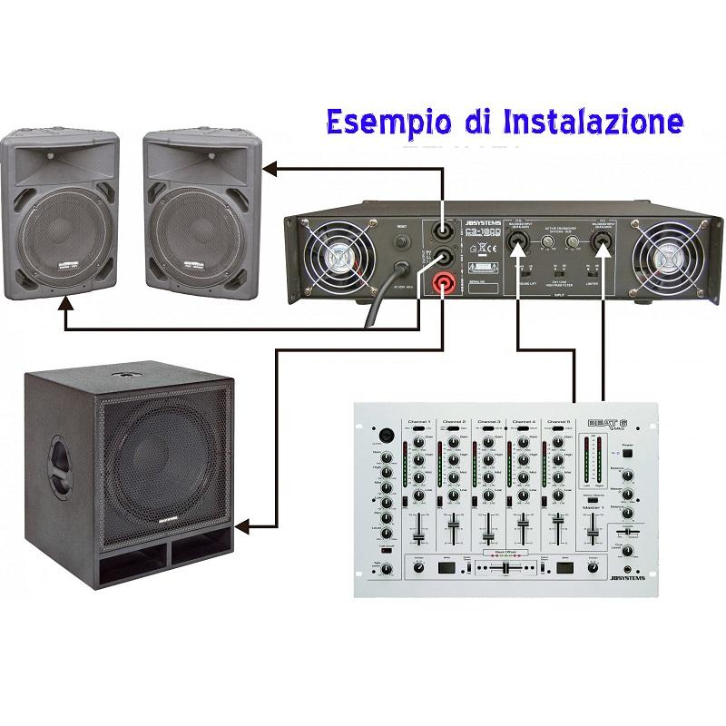 amplificatore per impianti audio discoteca