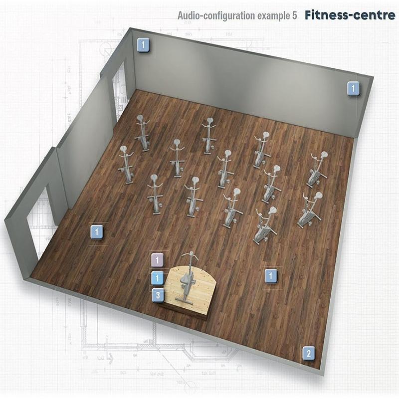 Progetto audio sala fitness spinning zumba