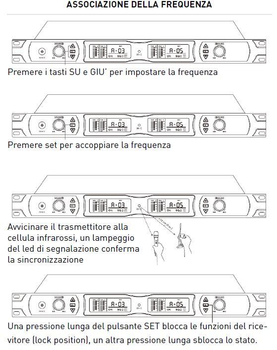 impostazione frequenze radiomicrofono