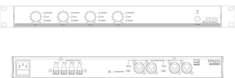 amplificatore 4 canali con crossover