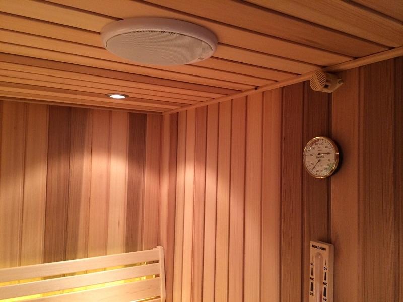 altoparlanti per sauna