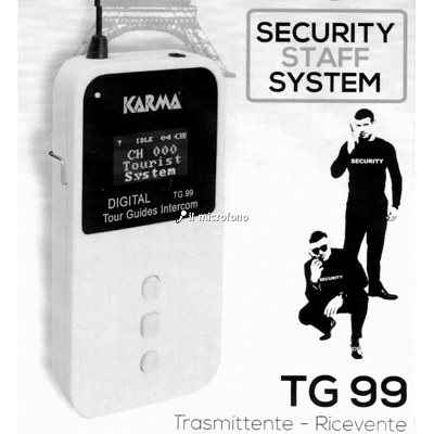 sistema intercom per security